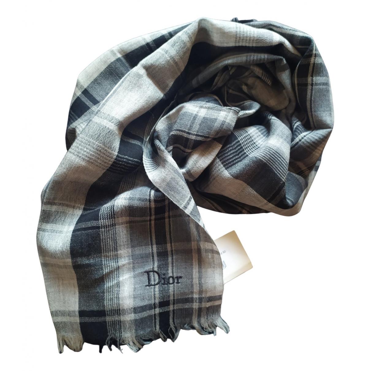 Dior N Grey Wool scarf for Women N