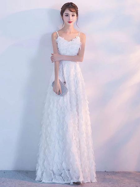 Milanoo Prom Dresses Blush Pink Long Halter Feathers Sleeveless Floor Length Graduation Dress wedding guest dress
