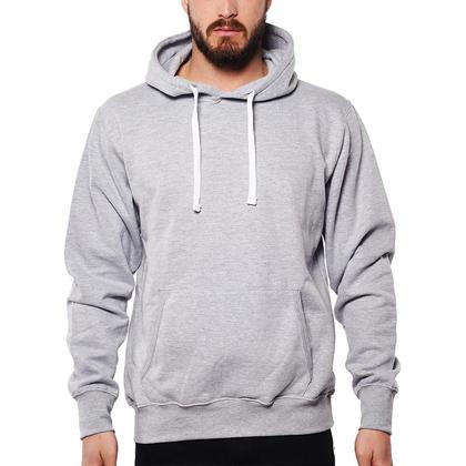 Cotton blend hoodie with Kangaroo Pocket Grey Mix - LIVINGbasics™