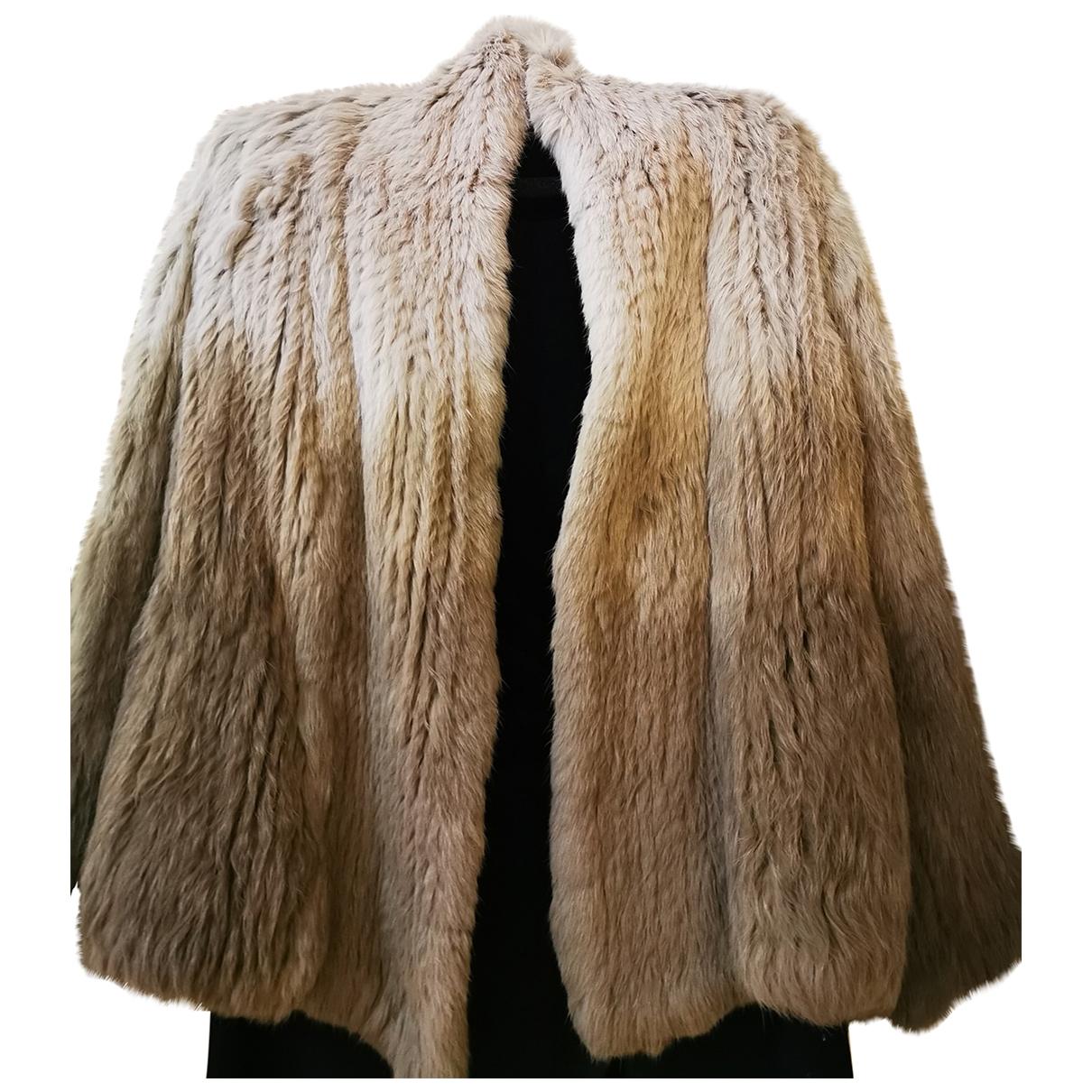 Max & Moi \N Beige Rabbit jacket for Women 36 FR
