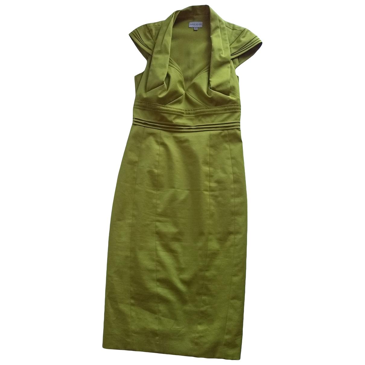 Karen Millen - Robe   pour femme en coton - vert