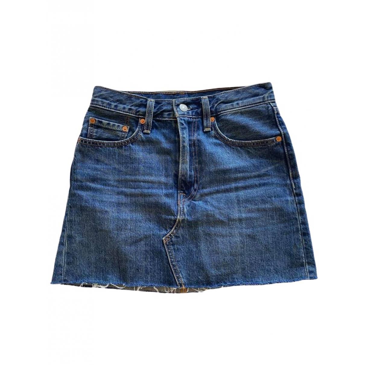 Levis - Jupe   pour femme en denim - bleu