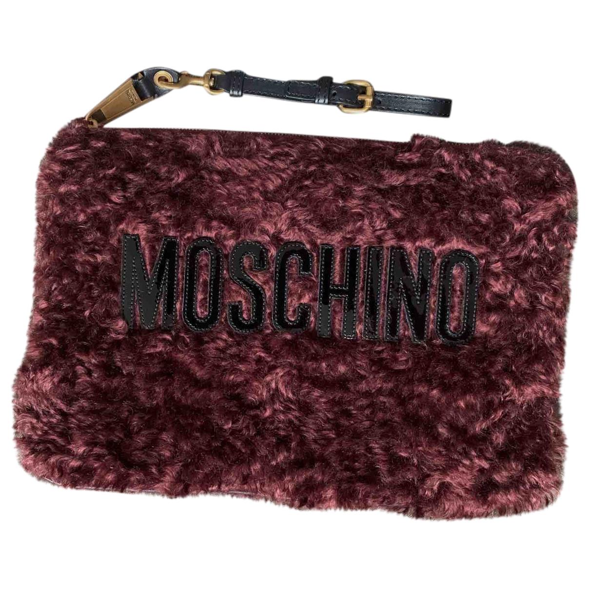 Bolsos clutch en Piel Burdeos Moschino