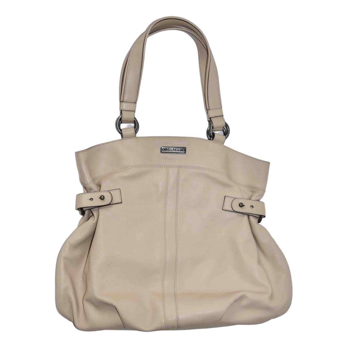 Max Mara \N Beige Leather handbag for Women \N