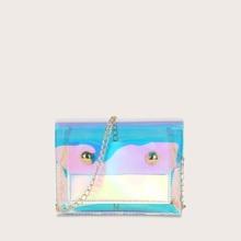 Maedchen Holografische Tasche mit Kette