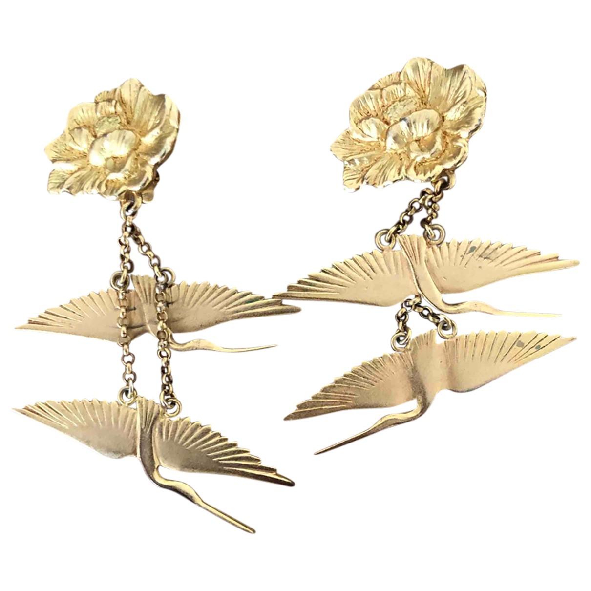 Kenzo - Boucles doreilles   pour femme en metal - dore