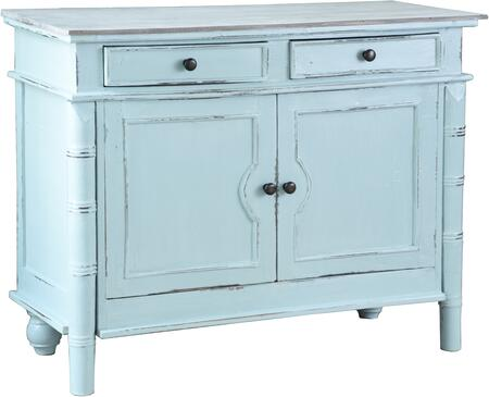 CC-CAB1296TLD-SBLW Cottage Buffet with Distress Details  Simple Pull  Decorative Hardware  Gliding Storage Drawers  Cabinet Doors  Wood Construction