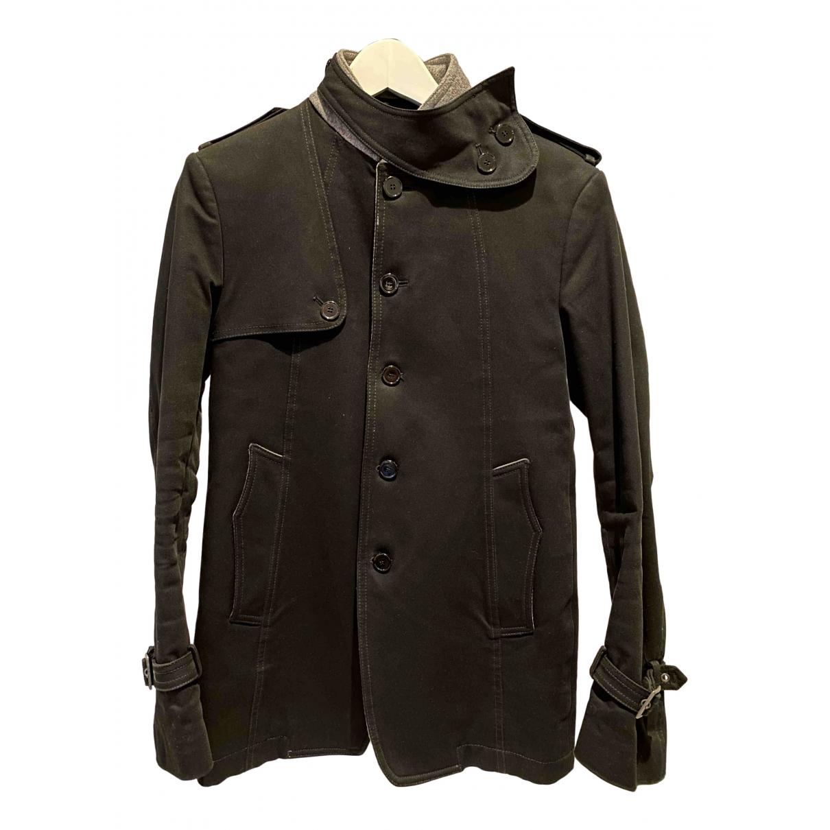 Dondup - Manteau   pour homme en coton - noir