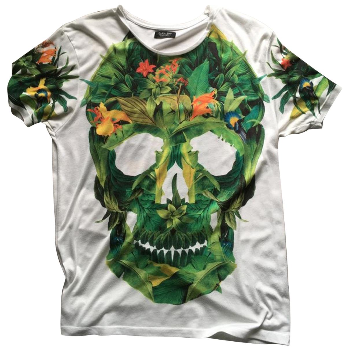 Zara \N T-Shirts in  Weiss Baumwolle