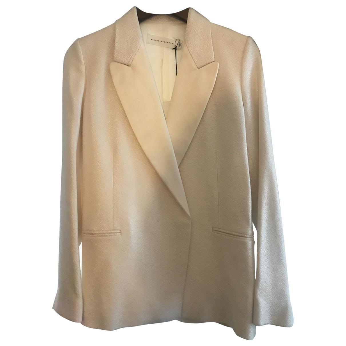 Victoria Beckham \N White Wool jacket for Women 10 UK
