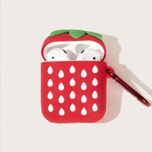 Strawberry Pattern Air-Pods Charger Box Protector