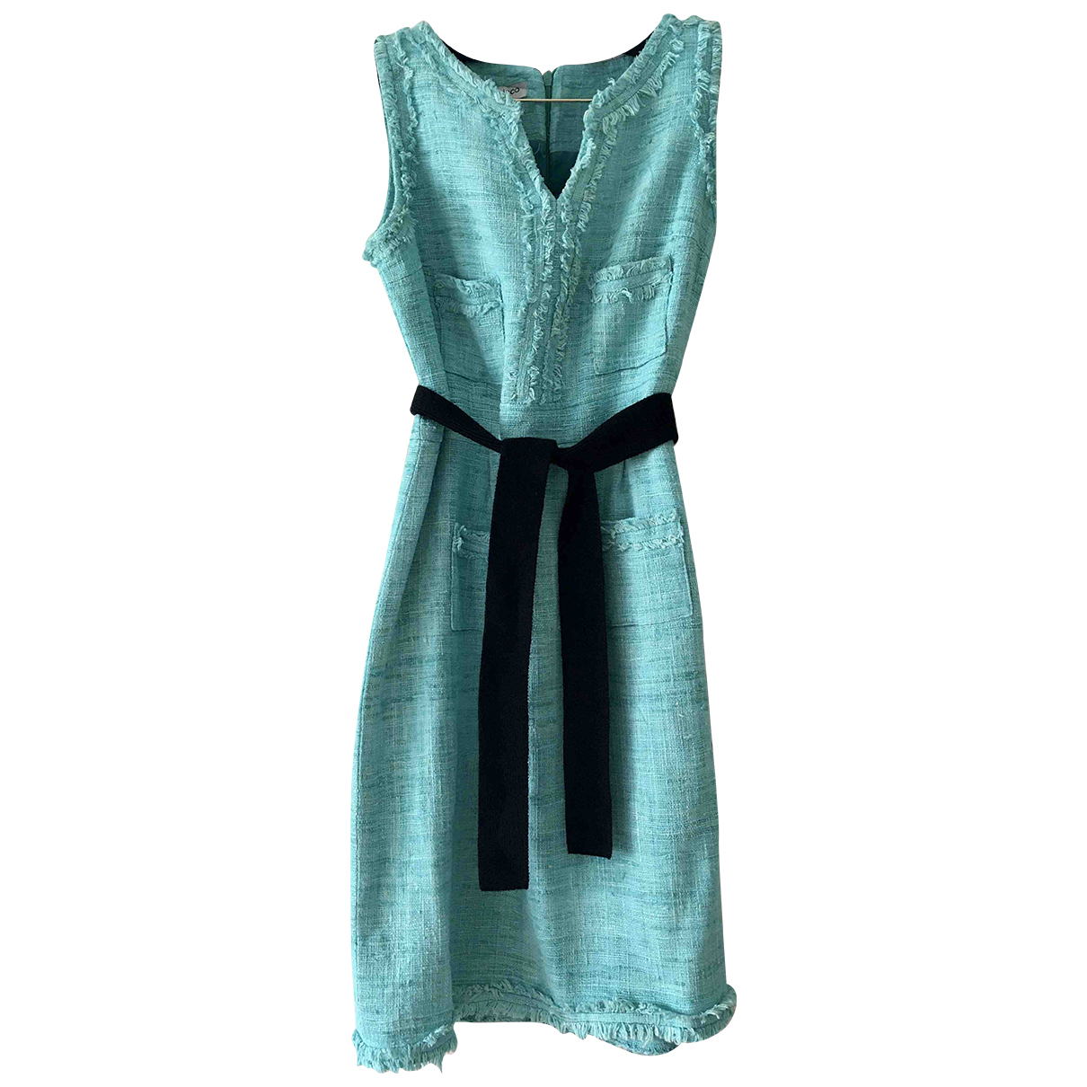 Autre Marque N Turquoise Silk dress for Women 42 FR