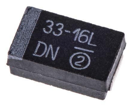 Vishay Tantalum Capacitor 33μF 16V dc MnO2 Solid ±10% Tolerance , 293D (5)