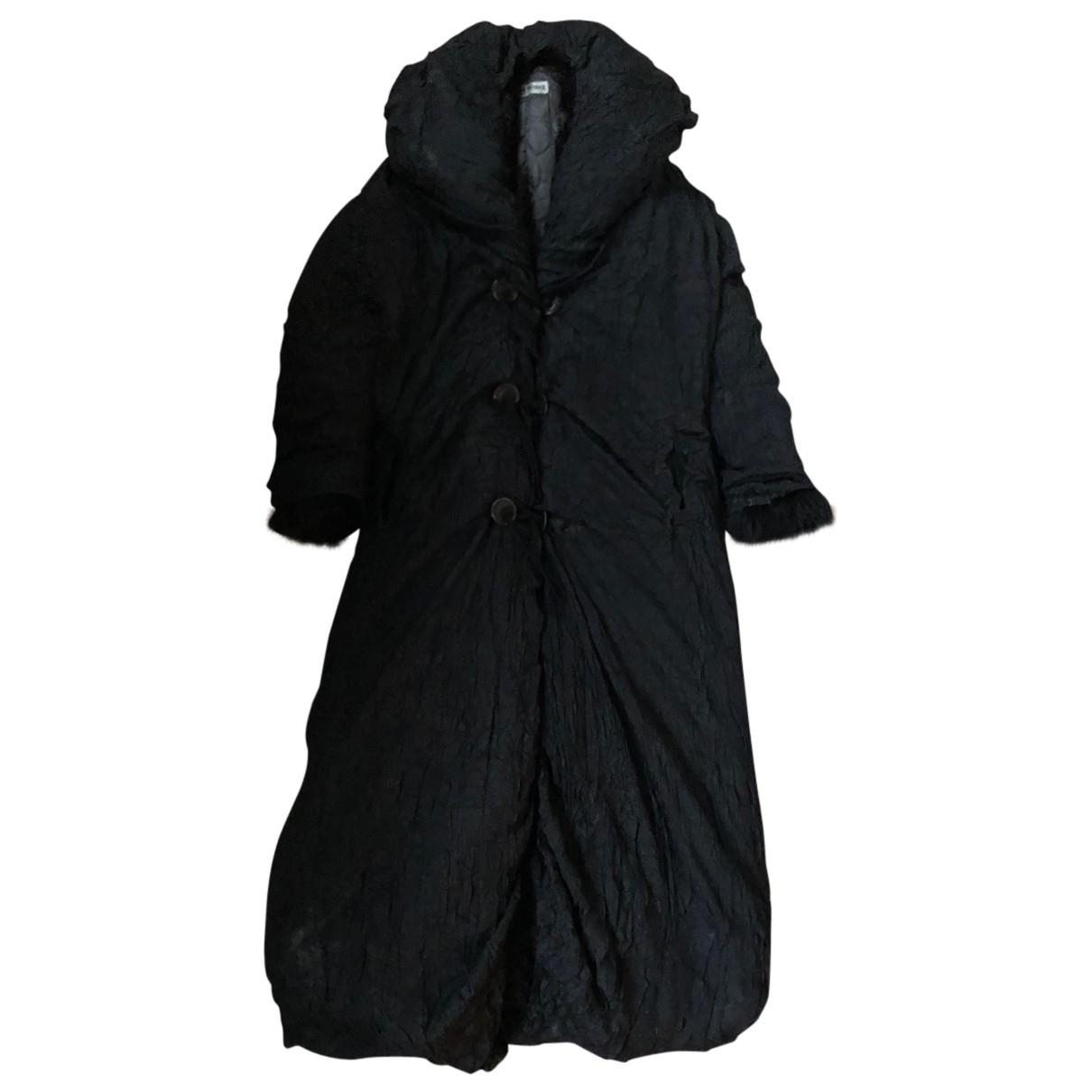 Issey Miyake - Manteau   pour homme en fourrure synthetique - noir