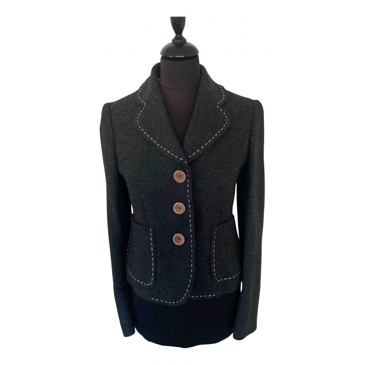 Moschino Cheap And Chic N Grey Wool jacket for Women 36 FR