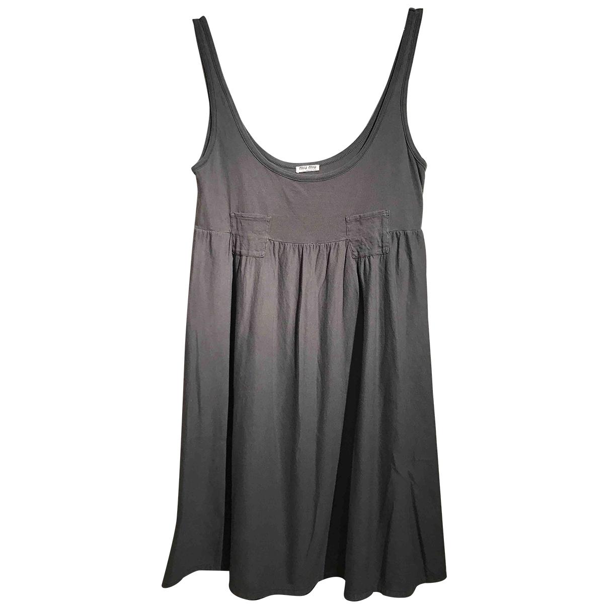 Miu Miu \N Anthracite Cotton dress for Women S International
