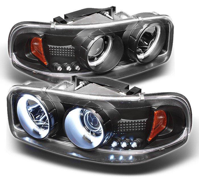 Spyder CCFL Black Projector HeadLights GMC Sierra 1500/2500/3500 99-06 GMC Sierra Denali 02-07