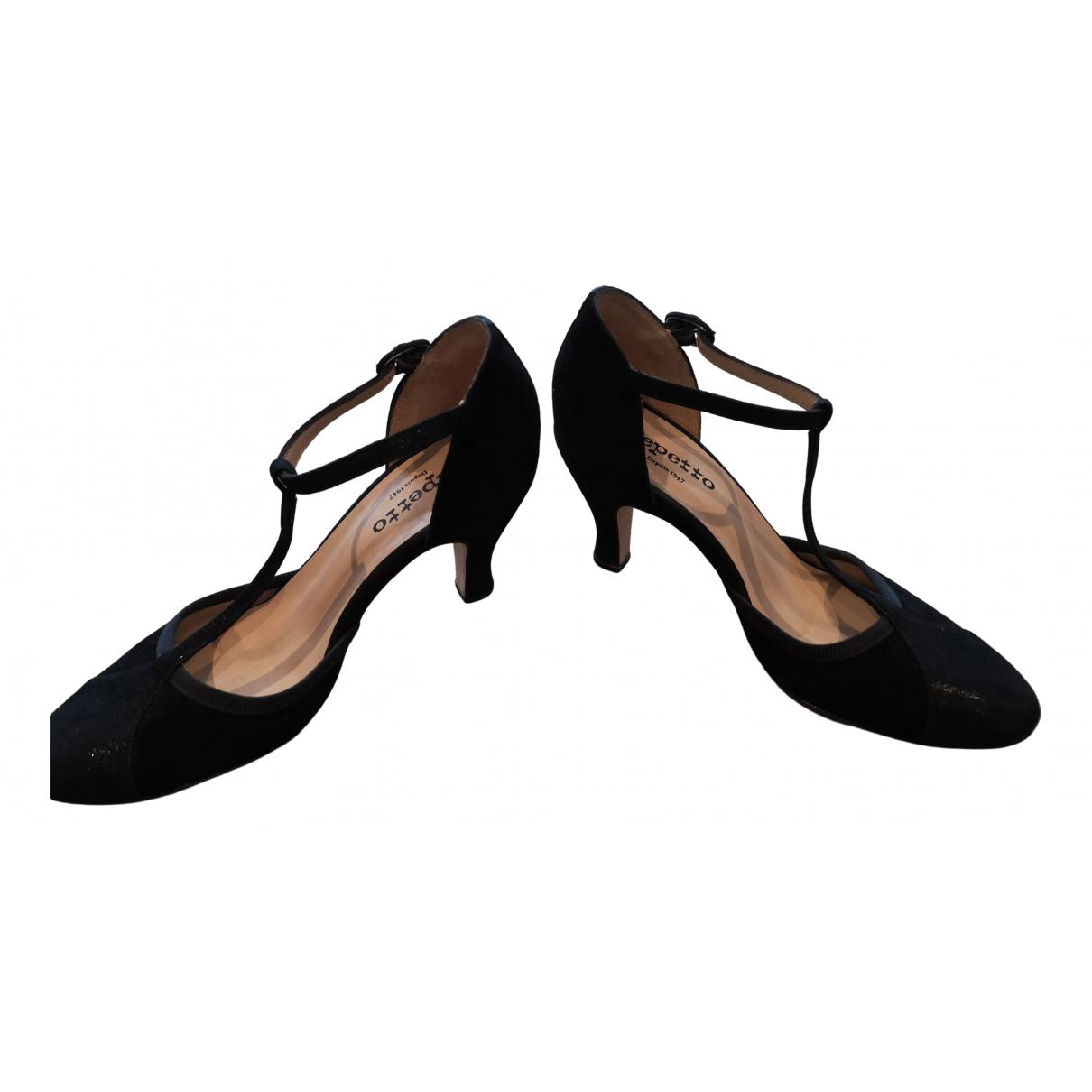Repetto \N Black Suede Heels for Women 37.5 EU