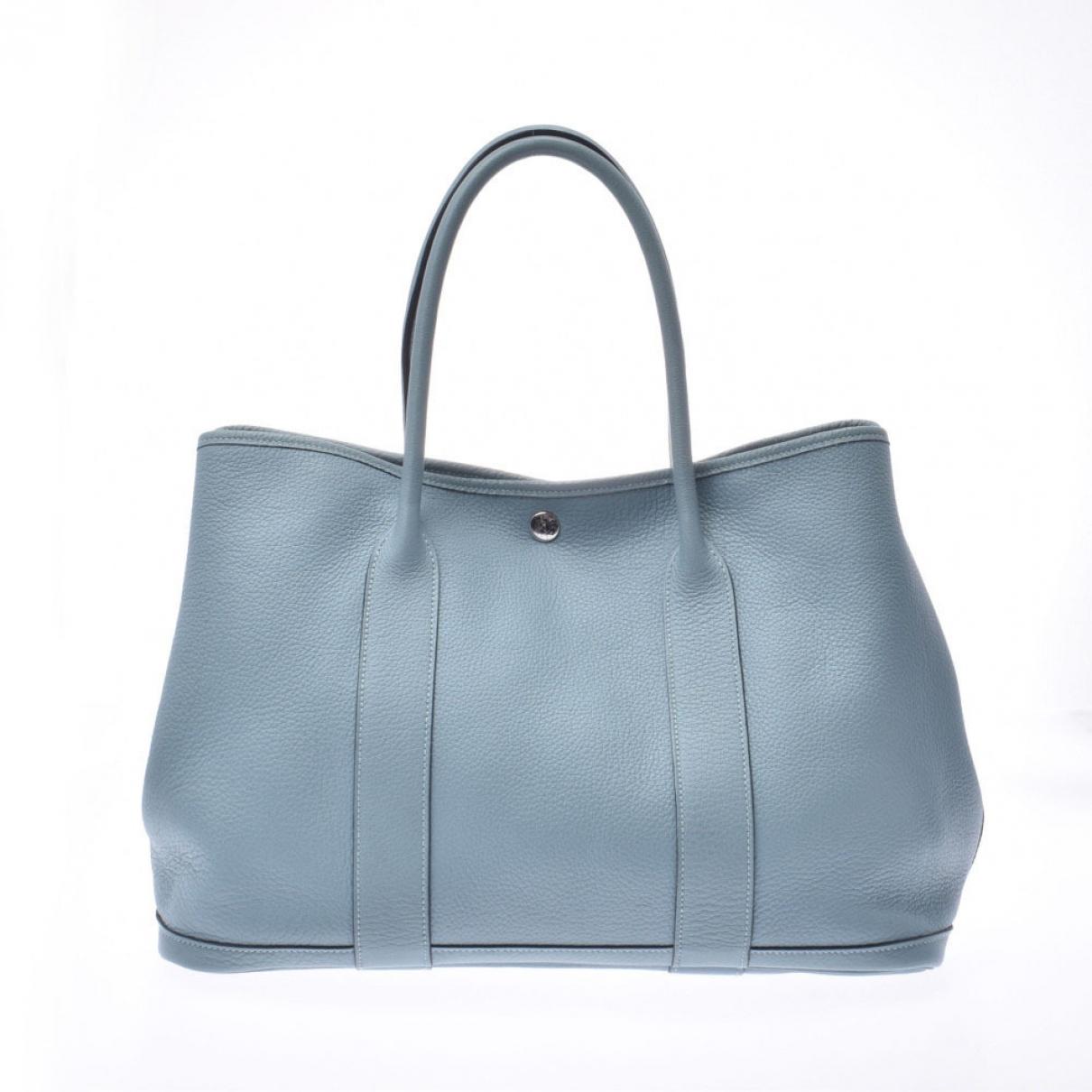 Hermes Garden Party Handtasche in  Blau Leder