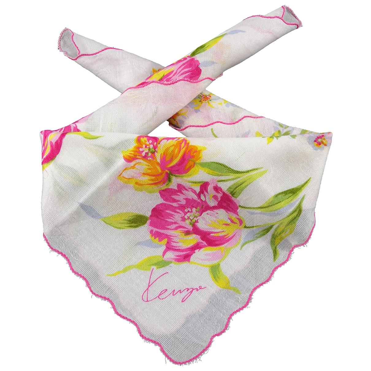 Kenzo - Carre   pour femme en coton - rose