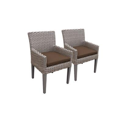 TKC297b-DC-C-COCOA 2 Oasis Dining Chairs With Arms with 2 Covers: Grey and