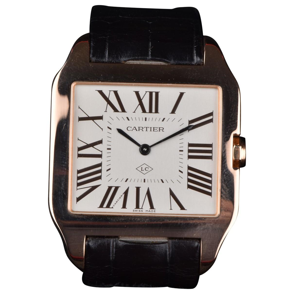 Relojes Santos Dumont  de Oro rosa Cartier