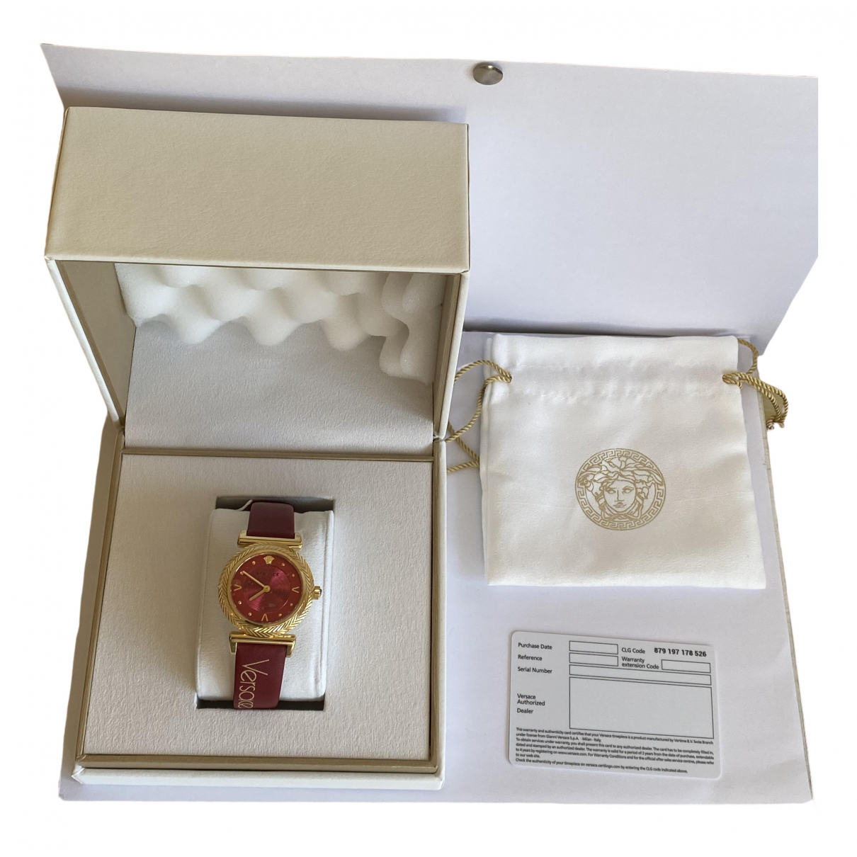 Versace \N Uhr in  Rot Stahl