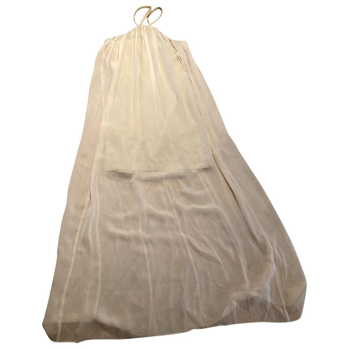 Hunky Dory \N Kleid in  Beige Seide