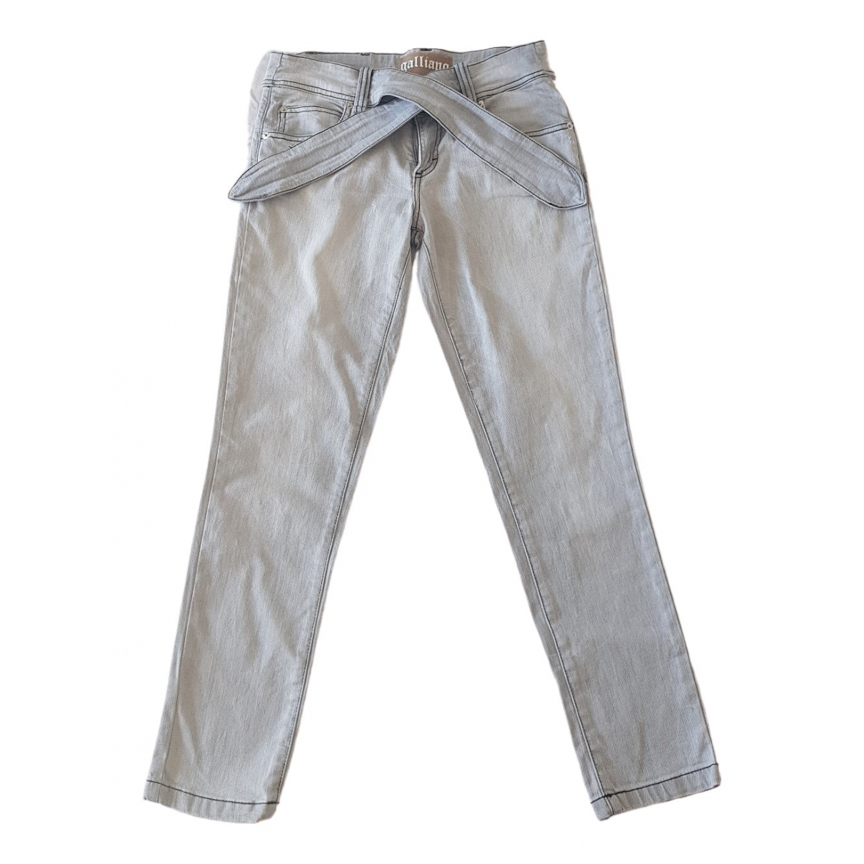 Galliano \N Grey Cotton Jeans for Women 36 FR