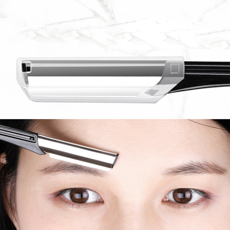 Sharp Portable Eyebrow Trimming Knife Stainless Steel Cutter Head Unisex Home Eyebrow Trimming Beauty Tool