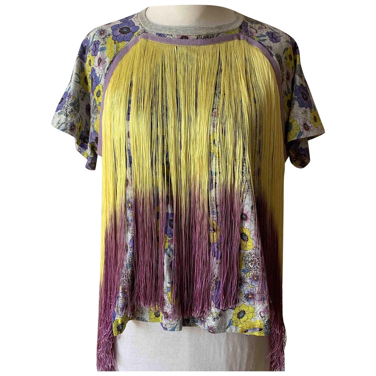 Giamba - Top   pour femme en coton - multicolore
