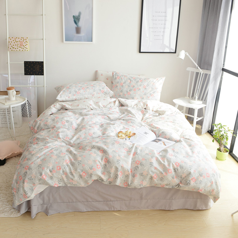 Pastoral Style Flowers Blooming Cotton 4-Piece Bedding Sets/Duvet Cover