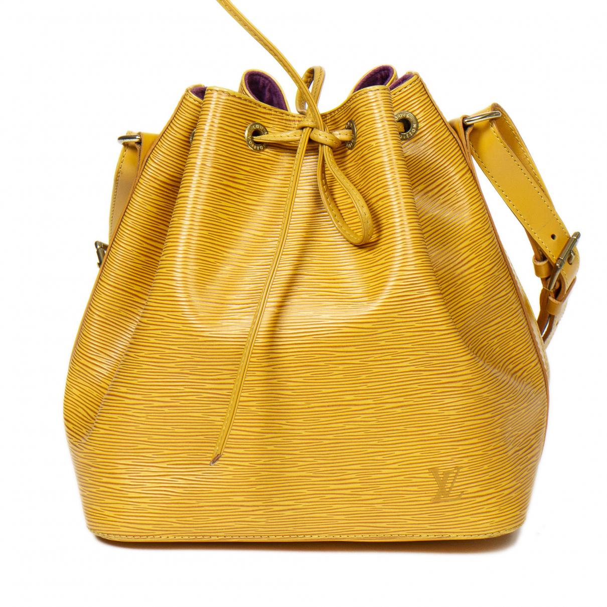 Louis Vuitton Noé Yellow Leather handbag for Women \N