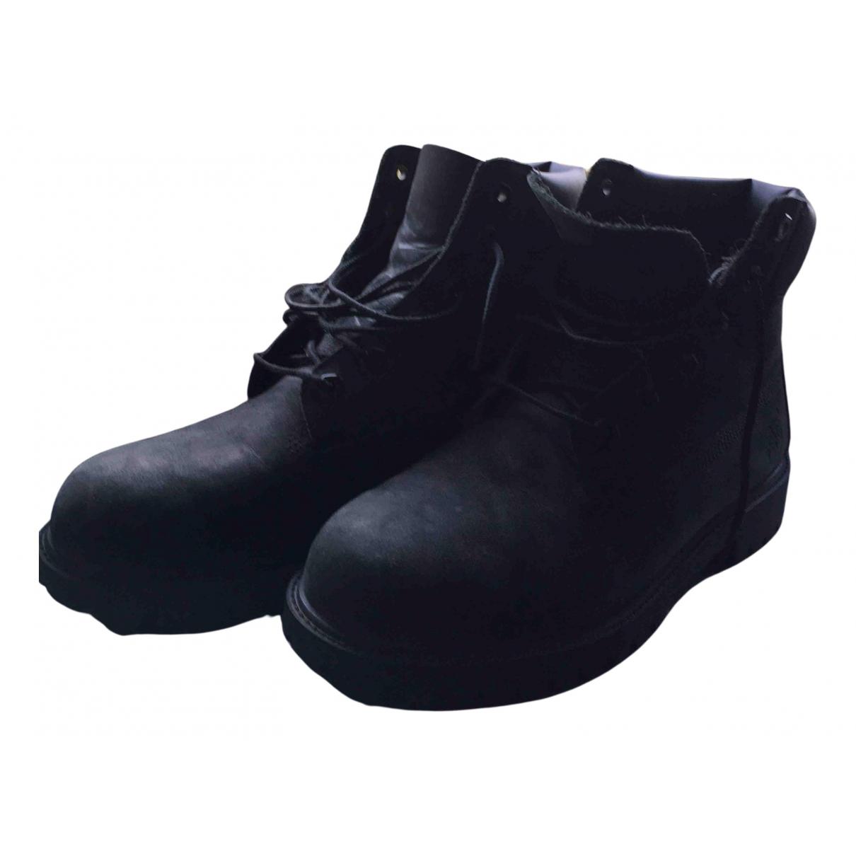 Timberland \N Stiefel in  Schwarz Leder