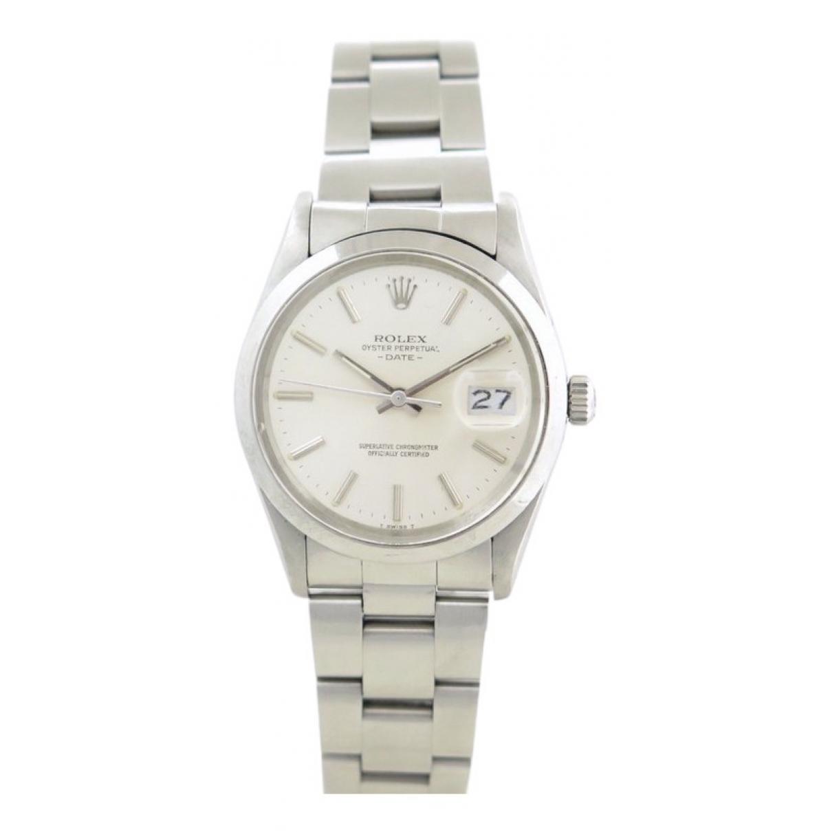 Rolex Oysterdate 34mm Uhr in  Silber Stahl