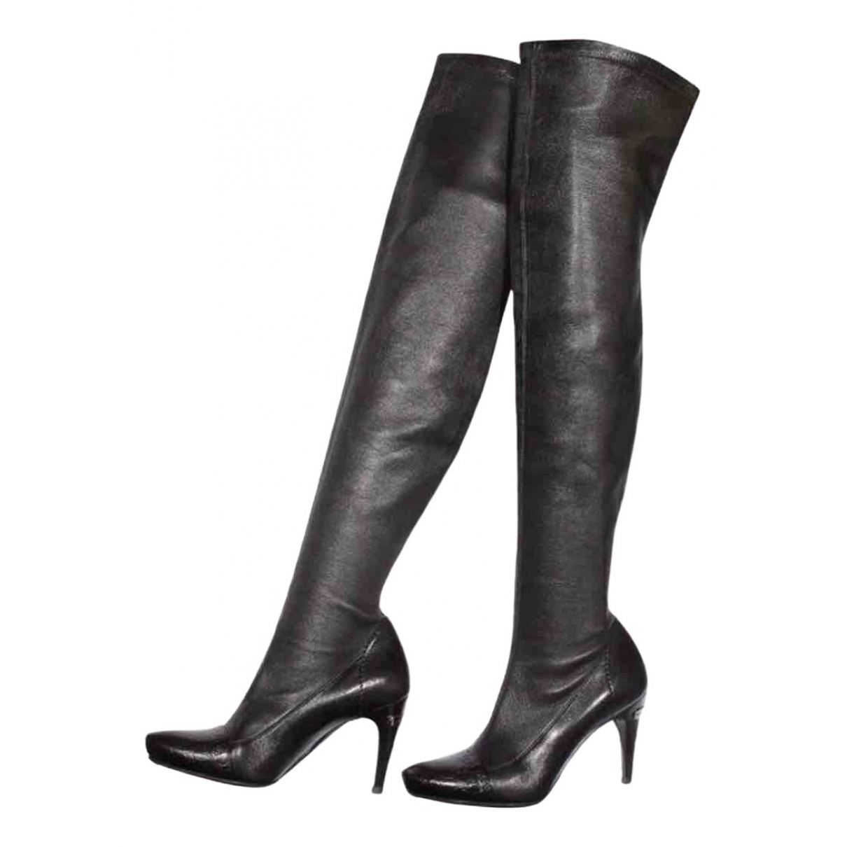 Louis Vuitton \N Black Leather Ankle boots for Women 38 EU
