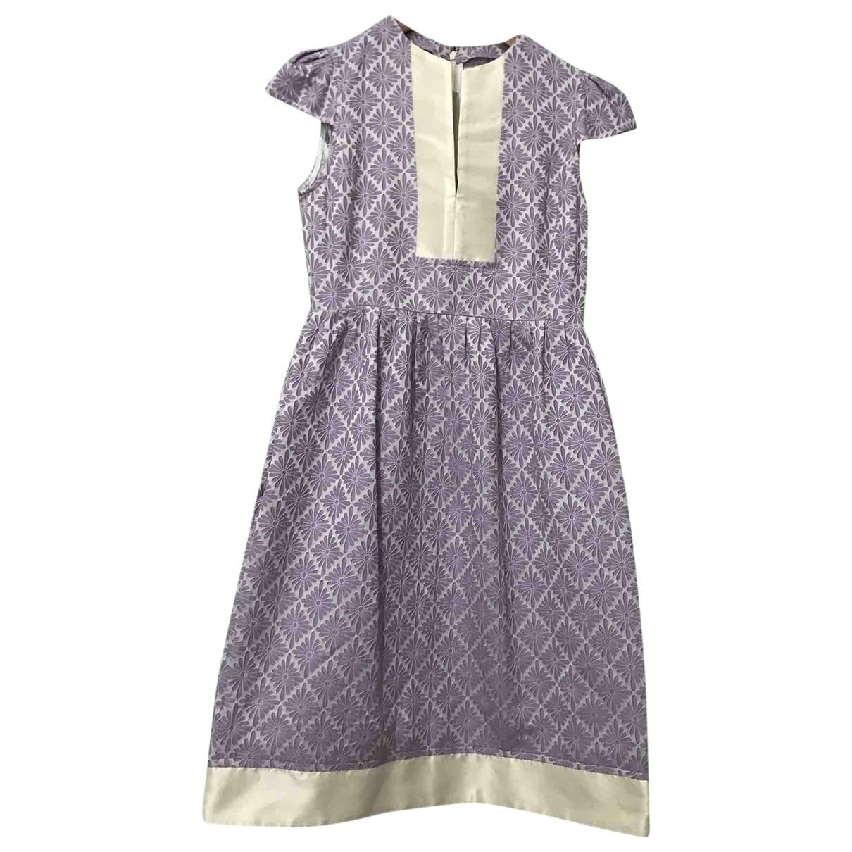 Carolina Herrera \N Purple Silk dress for Women 4 UK