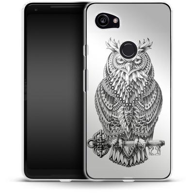 Google Pixel 2 XL Silikon Handyhuelle - Great Horned Owl von BIOWORKZ