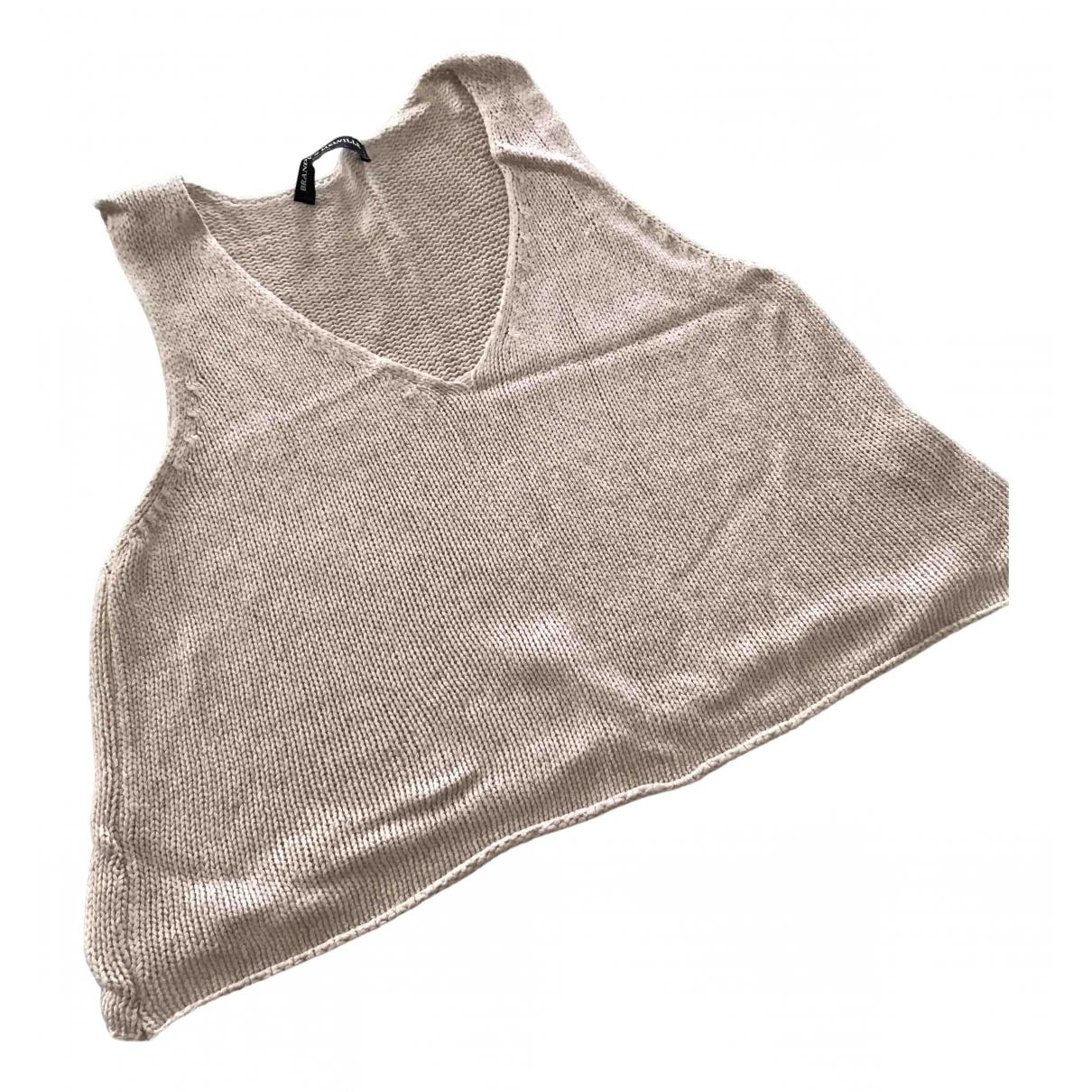 Brandy Melville - Top   pour femme en coton - beige