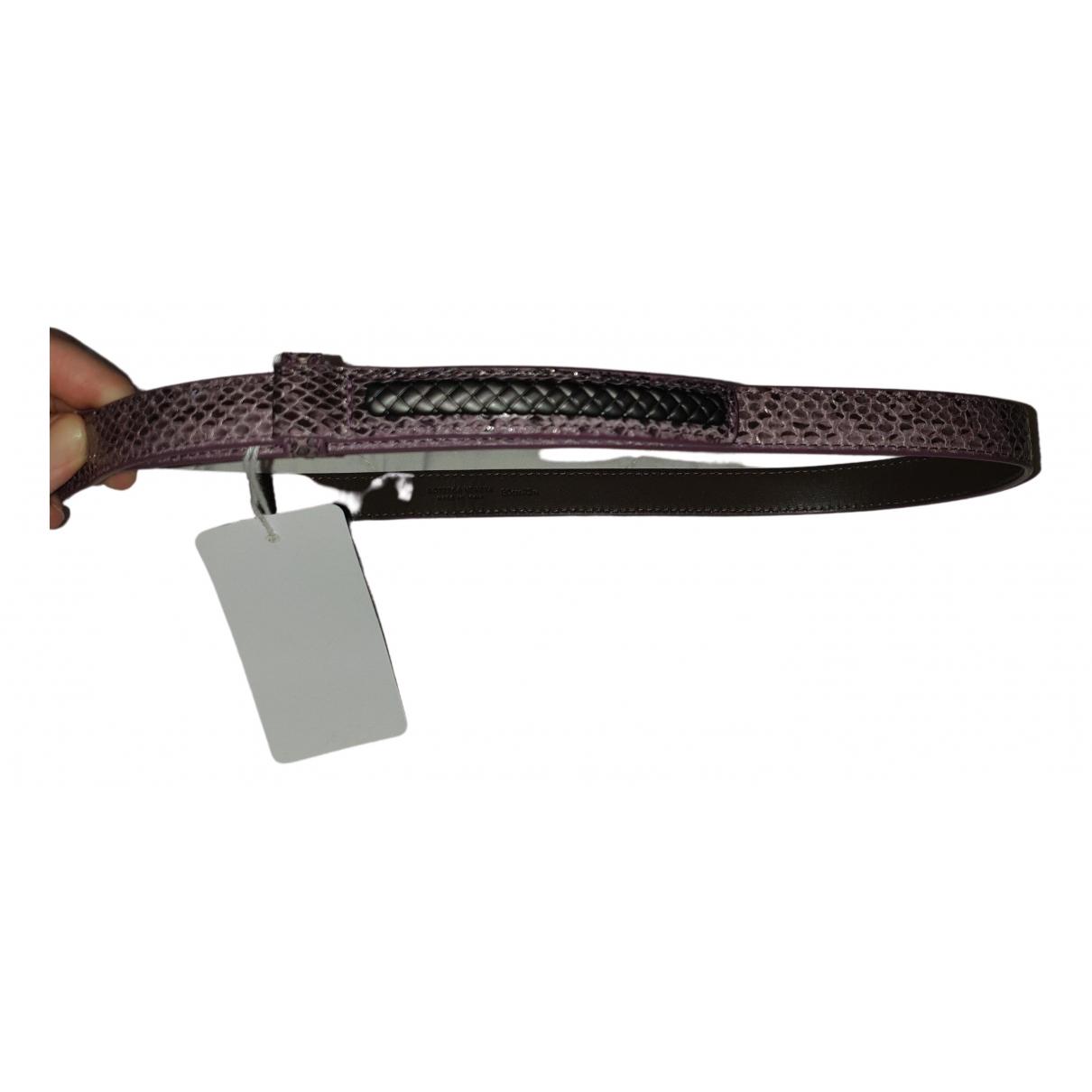Bottega Veneta \N Purple Python belt for Women 80 cm