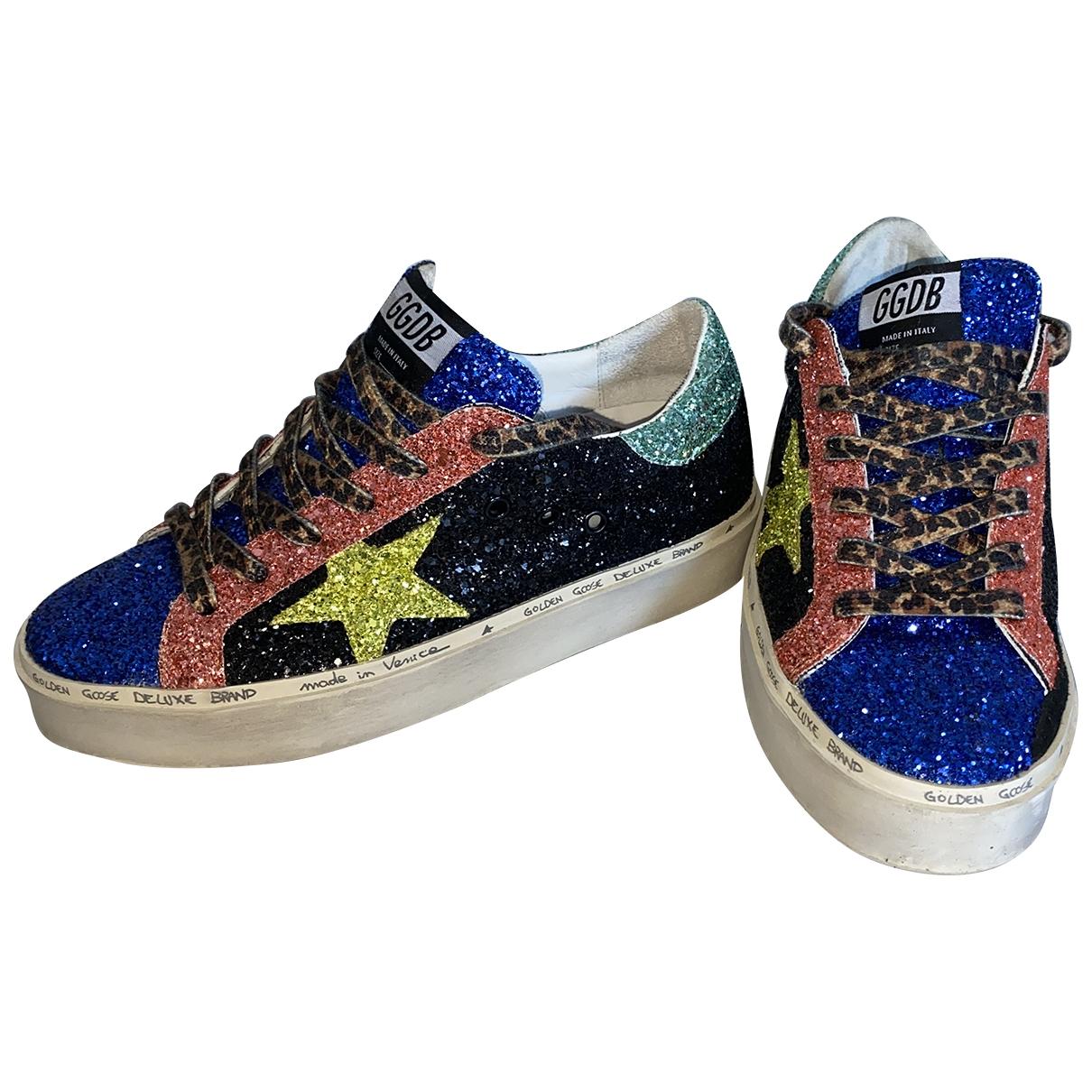 Golden Goose - Baskets Hi Star pour femme en a paillettes - multicolore