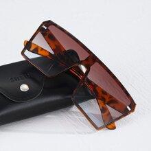 Maenner Sonnenbrille mit flaschem Oberteil