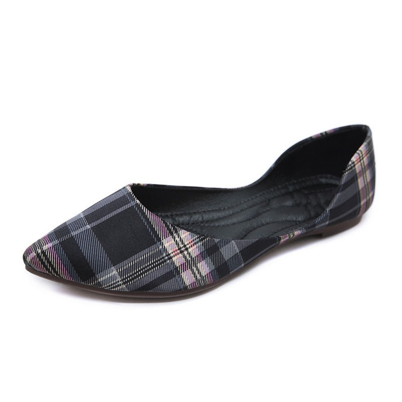 Ericdress Block Heel Pointed Toe Print Casual Thin Shoes
