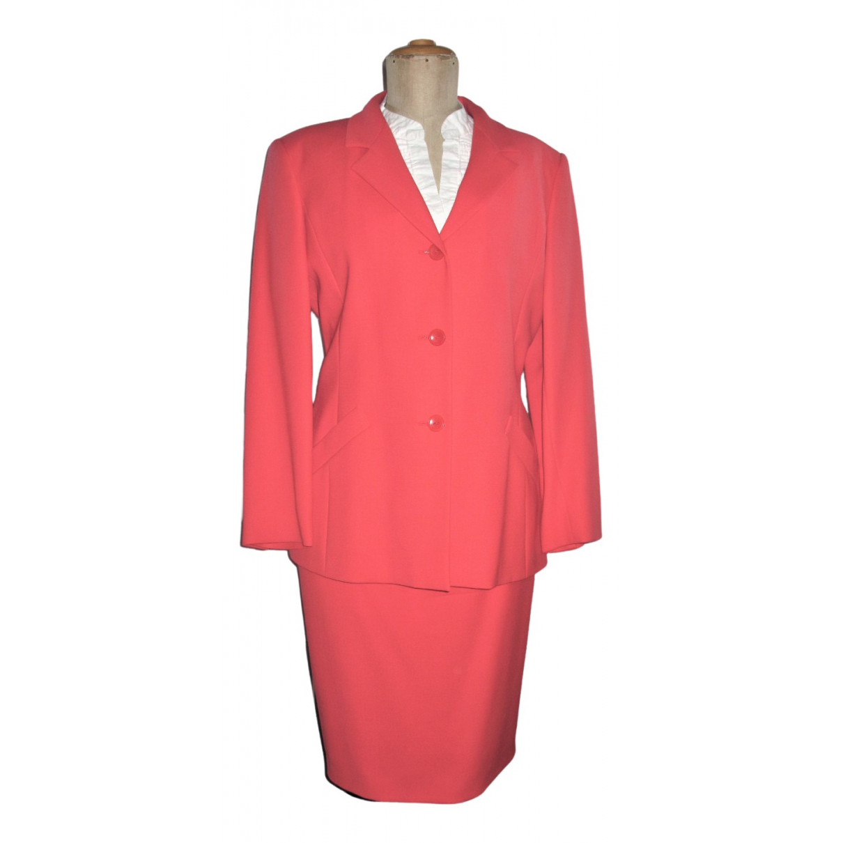 Max Mara - Veste   pour femme en laine - rouge