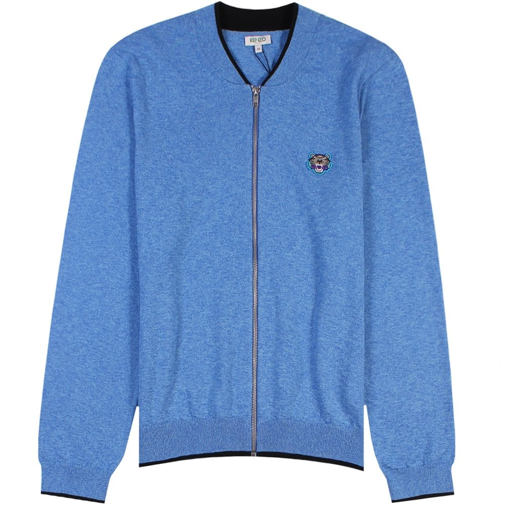 Kenzo Small Tiger Logo Cardigan Colour: LIGHT BLUE, Size: MEDIUM
