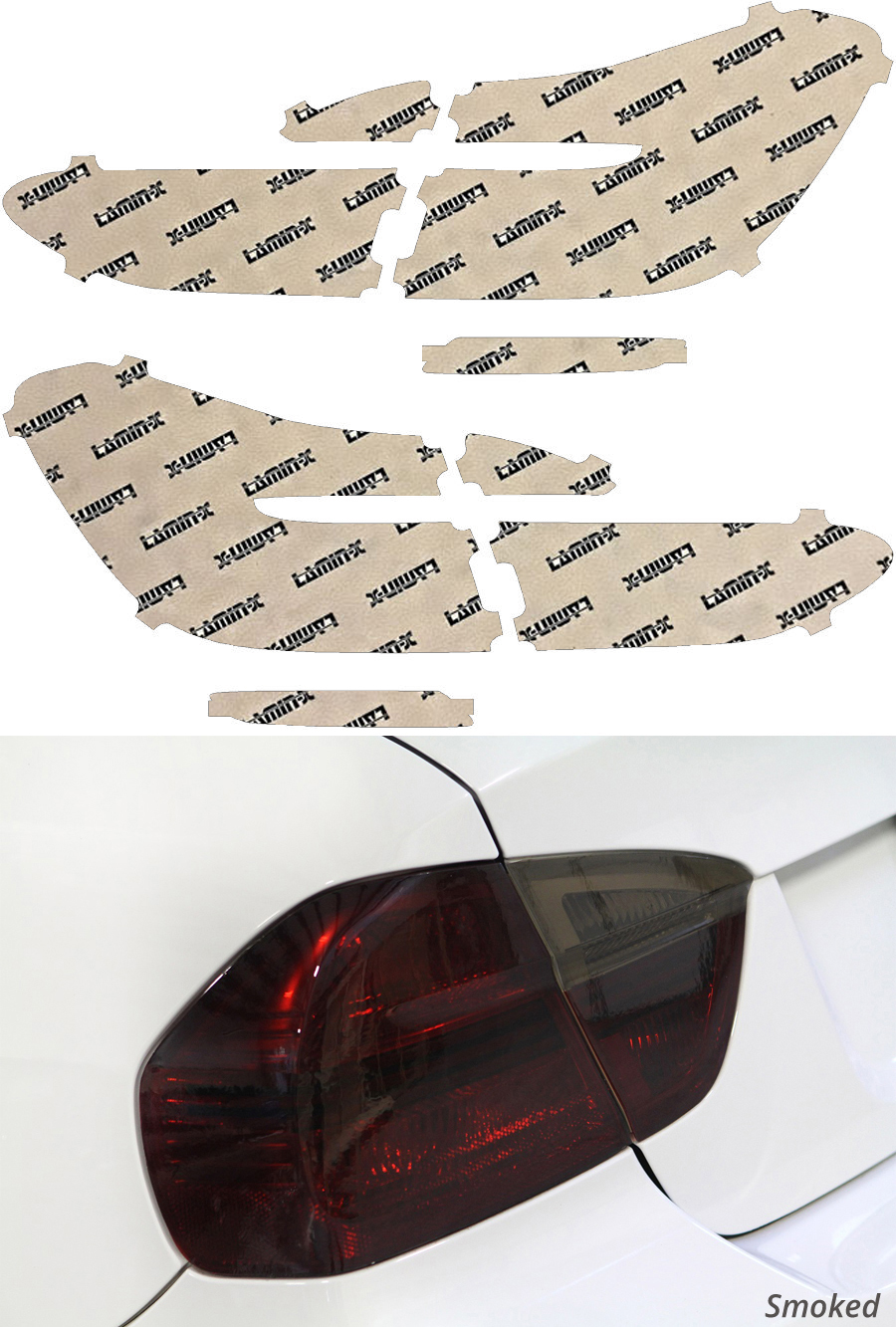 BMW 7-Series M Sport 16-20 Smoked Tail Light Covers Lamin-X B259S