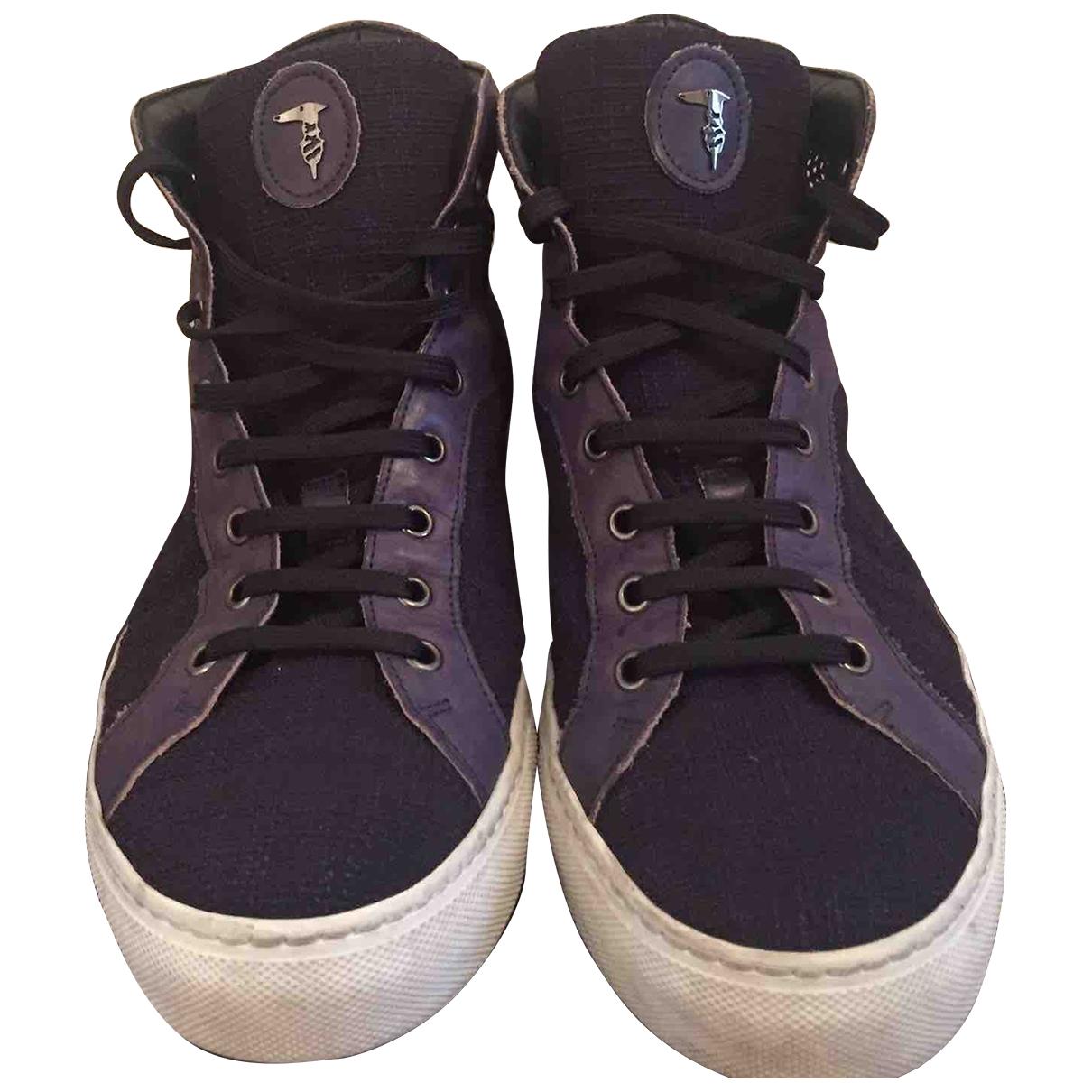 Trussardi \N Sneakers in  Blau Leder