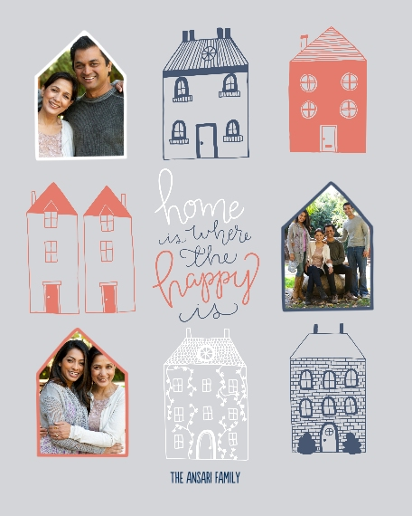 Family + Friends 16x20 Adhesive Poster, Home Décor -Happy Homes