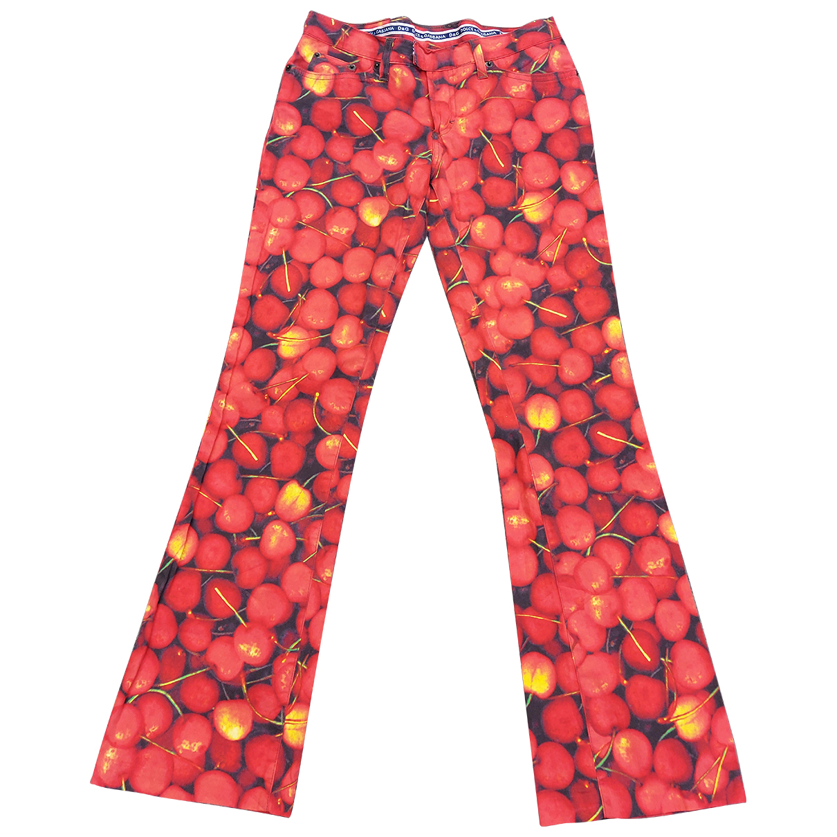 Dolce & Gabbana \N Red Cotton Trousers for Women 40 IT