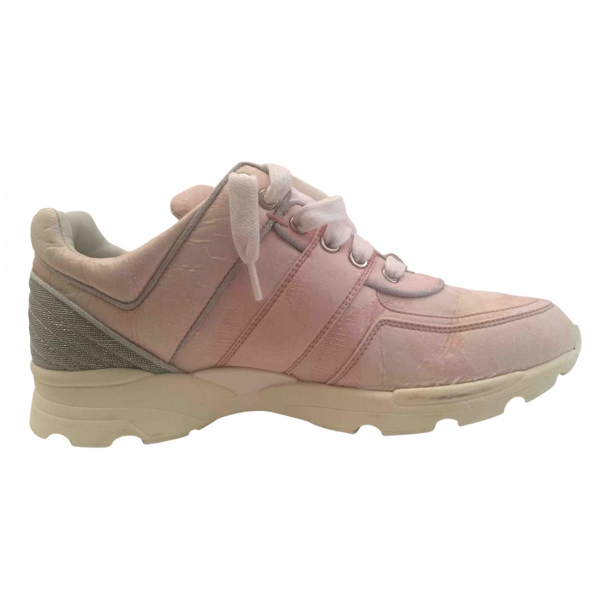 Chanel - Baskets   pour femme - rose